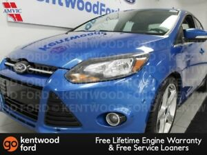 2012 Ford Focus Titanium FWD with heated power leather seats, su