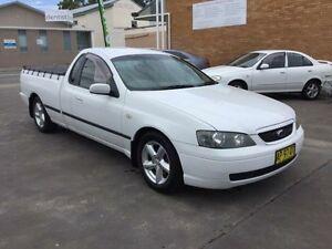 2003 Ford Falcon BA XLS White Sports Automatic Utility Boolaroo Lake Macquarie Area Preview
