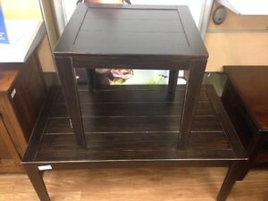 ASHLEY COFFEE TABLE & 1 END TABLE