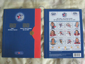 Souvenir Sheet of Stamps for the 50th NHL All-Star Game