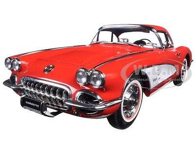 1958 CHEVROLET CORVETTE SIGNET RED 1:18 DIECAST MODEL CAR BY AUTOART 71148 18 Autoart Diecast Model