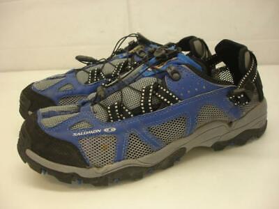 Salomon 872032 Techamphibian Contragrip Water Hiking Shoes Men's 11 M Blue Gray