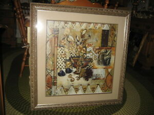 REDUCED! LOVELY MODERN XLARGE GOLD ART PRINT, MINT COND