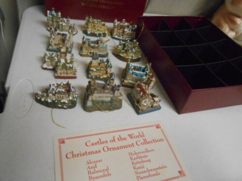 Danbury Mint Castles of the World Christmas Ornament Collection 1994 lot of 12