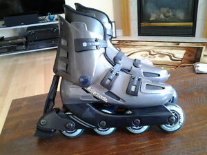Men's Rollerblade In-line skates and wrist guards