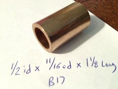 Oilite Bushing Bronze 12 Id X 1116 Od X 1 18 Bearing Bush Sleeve Spacer B17