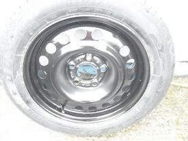 OFFERS VAUXHALL MERIVA,COMBO, ZAFIRA A, WHEEL AND TYRE 15 INCH, ET43, 185.60.15, 5 STUD - CHESHIRE