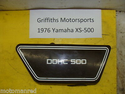 76 77 <em>YAMAHA</em> XS500 RIGHT SIDE PANEL COVER BODY PLASTIC NO CRACKS R RH