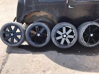 """Audi TT 18"""" Alloy wheels refurbished Gloss Black with Tyres"""