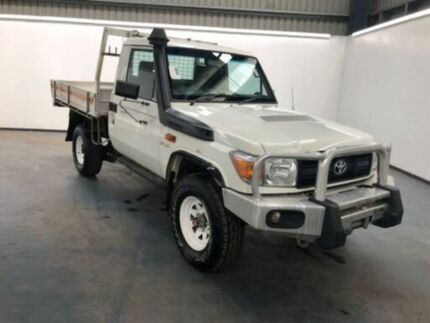2014 Toyota Landcruiser VDJ79R MY13 WORKMATE White Manual CAB CHASSIS SINGLE CAB Albion Brimbank Area Preview