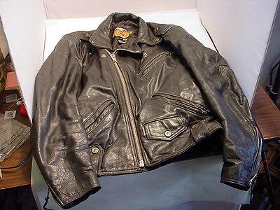 Vintage USA Harley Davidson Men's Distressed Leather Motorcycle Jacket - Medium