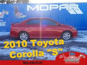 2010 Toyota Corolla S Automatic with Sunroof