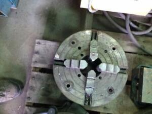 "Lathe chucks 4 jaw.. 12-3/4"" and 13-3/4"" no mounting plate"