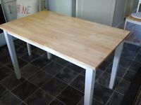 Solid Rubber Wood Dining Table (Table Only)