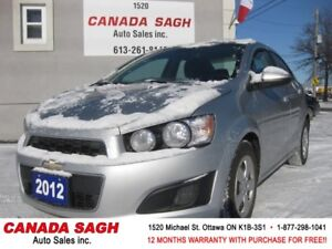 2012 Chevrolet Sonic LT,AUTO, ONLY 87 KM,12 M WRTY,SAFETY $7790