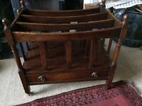 Antique mahogany reproduction Canterbury