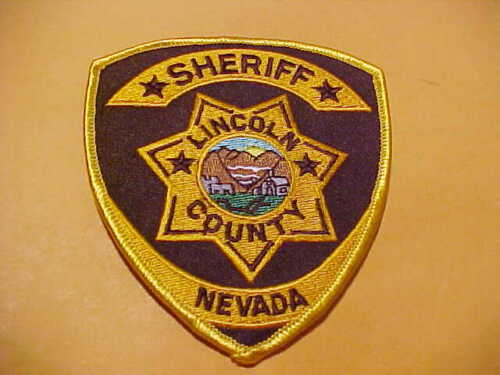 LINCOLN COUNTY NEVADA POLICE PATCH SHOULDER SIZE UNUSED