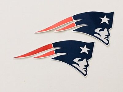 Patriots Car Sticker (2x New England Patriots Car Bumper Window Laptop Wall Vinyl Stickers)