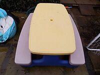 kids outdoor table