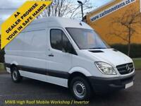 2012 12 Mercedes Benz Sprinter Mwb High Roof [ Mobile Workshop & Invertor ] Van