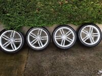 """BARGAIN - Get Ready for Winter - Genuine 19"""" Audi S5 Wheels, withMichelin Alpin PA4 tyres."""