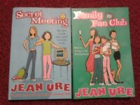 Jean Ure 2 books - Secret Meeting/ Family Fan Club - Used books in good condition