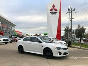 2017 Mitsubishi Lancer CF MY17 Black Edition White 6 Speed Constant Variable Sedan Hoppers Crossing Wyndham Area Preview