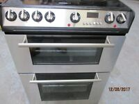 **HoTpOiNt CERAMIC TOP/60 CMS WIDE/ ELECTRIC COOKER+GRILL+OVEN/FAN// GOOD CONDITION/VERY CLEAN***