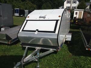 "Mission 60"" x 12' Single Enclosed Tilt Snowmobile Trailer"
