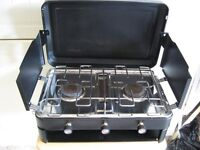 Royal double burner and grill