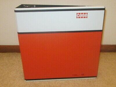 Vintage J.i. Case A Tenneco Company Logo Orange Black White 3 Ring Binder Usa
