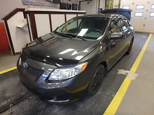 INSPECTED! 2009 corolla with 5 speed std. transmission.
