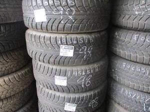 195/65 R15 GISLAVED WINTER TIRES ON HONDA CIVIC STEEL RIMS USED SNOW TIRES (SET OF 4 - $360.00) - APPROX. 85% TREAD