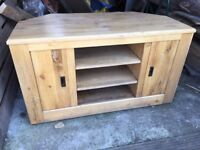 Solid wood-Oak Television stand For Sale