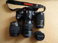 Pentax KR DSLR with 4 lenses - £200 for the whole kit.