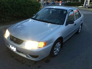 2001 toyota corolla CE with CERTIFY&EMISSION