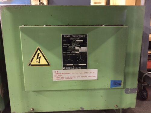 BRONE ELECTRIC TRANSFORMER 30 kVA (Ref #1)