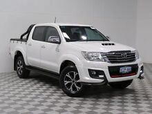 2014 Toyota Hilux KUN26R MY14 SR5 Black (4x4) White 5 Speed Automatic Dual Cab Pick-up Atwell Cockburn Area Preview