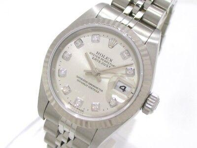 Auth ROLEX Datejust 79174G Silver Women