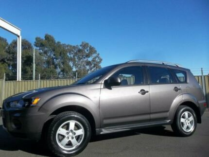 2010 Mitsubishi Outlander ZH MY10 LS Grey 6 Speed CVT Auto Sequential Wagon