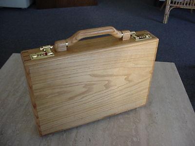 OAKWOOD EXECUTIVE ATTACHE BRIEFCASE unique 977 WOOD aluminum computer CASE gift