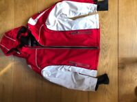 Ski jacket red and white