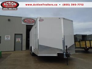 QUALITY TRAILER, GREAT PRICE! 8X16 ATLAS WITH RAMP DOOR!!