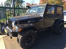 2000 Jeep Wrangler TJ Sport (4x4) Black 5 Speed Manual 4x4 Softtop Campbelltown Campbelltown Area Preview