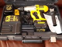 """DEWALT DW006 24V Heavy Duty Cordless Hammer Drill, 1/2"""" Chuck, 2 Battery Packs, Charger, New In Case"""