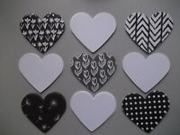 50 hearts - mix of white and black&white