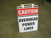 Overhead Power Signs