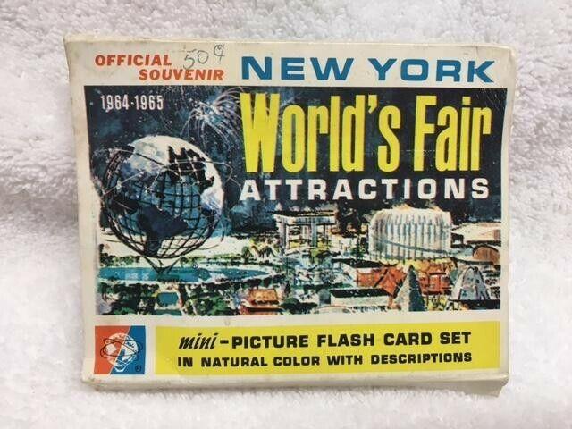 Retro 1964-1965 New York Worlds Fair Mini Flash 24 card Set