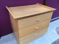 Light oak chest of drawers