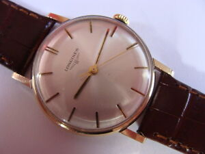 Vintage 1971 solid 9ct gold Longines gents swiss watch..